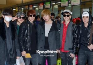 Airport Fashion: 'U-Kiss' Leaving for Golden Disk Awards in Kuala Lumpur, Malaysia