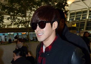 Airport Fashion: TVXQ's Yunho Leaving for Concert in Hong Kong