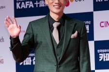 South Korean actor Um Tae-Goo (Uhm Tae-Goo) attends the red carpet for 'Korean Academy Of Film Arts' (KAFA) 10th Anniversary at the Lotte Cinema on September 1, 2016 in Seoul, South Korea