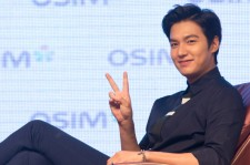 Korean singer/actor Lee Min-Ho attends a press conference for a commercial event on September 11, 2014 in Taipei, Taiwan.