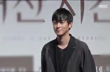 "Kang Dong-Won in the press conference of his new movie ""Vanishing Time: A Boy Who Returned"" scheduled to premiere Nov. 16."