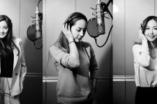 Photos of S.E.S. member in the studio from SM Entertainment news release.