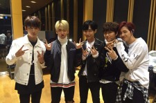 B1A4 after shooting the Saturday Nighy Live in tvN  on Nov. 26.
