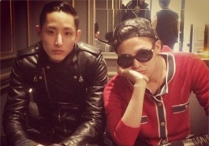 g-dragon picture with model lee soo hyuk
