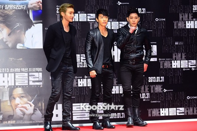 'The Berlin' VIP Movie Premiere Directors & Celebs Red Carpet: Super Juniorkey=>4 count6