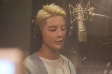 "Junsu during the recording session of the song ""Road"" the first OST of ""Night Light"" MBC drama."