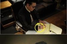 Psy's Bracelet Becomes a Trend, 'Gift from Fan'