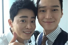 Go Kyung-Pyo (R) with Jo Jung-Suk, co-star in