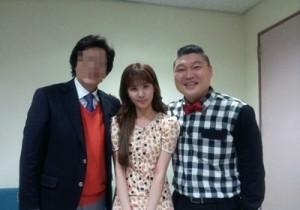 seohyun face small next to kang ho dong