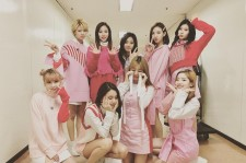The complete member of TWICE before their performance.