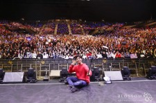 Park Bo-Gum takes a selca (selfie) after a successful fan meeting in Hong Kong