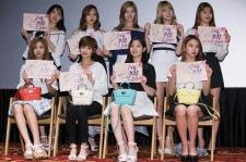 TWICE attends the autograph session for 'Redcettu' at Lotte Cinema on June 28, 2016 in Seoul, South Korea.