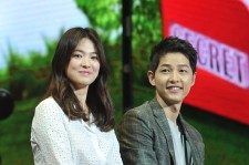 South Korea actress Song Hye Kyo and actor Song Joong-ki attend fan meeting on June 17, 2016 in Chengdu, Sichuan Province of China.