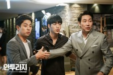 "Still image from the drama ""Entourage"" from left Park Jung-Min, Seo Kang-Jun and Cho Jin-Woong."