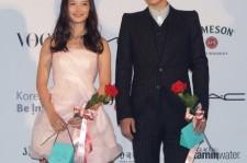 Kim Yoo Jung and TOP Bigbang at APAN Star Road during 18th Busan International Film Festival.