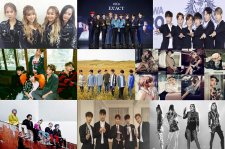 Girl's Generation, Sistar, SHINee, Infinite, EXO, Big Bang, Beast, 2NE1 and Shinhwa