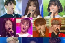 TWICE Jihyo, GFRIEND Eunha and Yuju, DIA Chaeyeon, Seventeen DK, Minggyu and The8, Got7 Bam Bam with Yug Yeom and BTS Jungkook