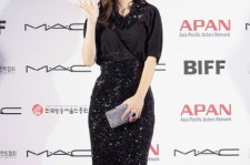 Min Hyo-Rin arrives for the Asia Pacific Actors Network (APAN) Star Road of the 16th Busan International Film Festival (BIFF) at the Haeundae beach on October 7, 2011 in Busan, South Korea.