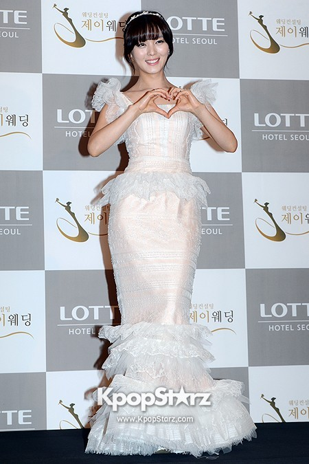 Wonder Girls Sunye's Wedding Press Conference at Seoul Lotte Hotelkey=>8 count17