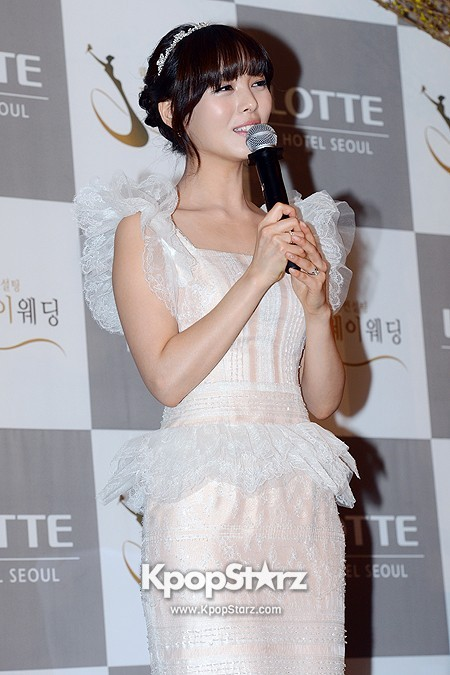Wonder Girls Sunye's Wedding Press Conference at Seoul Lotte Hotelkey=>13 count17