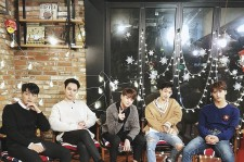 BEAST in their Christmas photo from their own agency Around US Entertainment founded on Dec. 15, 2016.