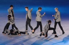 EXO perform during the opening ceremony for the Opening Ceremony ahead of the 2014 Asian Games at Incheon Asiad Stadium on September 19, 2014 in Incheon, South Korea.