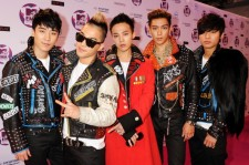 Seungri, G-Dragon, Taeyang, T.O.P, Daesung of Korean boy band Big Bang attend the MTV Europe Music Awards 2011 at the Odyssey Arena on November 6, 2011 in Belfast, Northern Ireland.