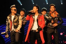 Seungri, G-Dragon, Taeyang, T.O.P, Daesung of Korean boy band Big Bang perform onstage during the MTV Europe Music Awards 2011 live show at at the Odyssey Arena on November 6, 2011 in Belfast, Northern Ireland.