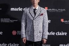 T.O.P of Bigbang arrives for the marie claire Asia Star Awards during the 18th Busan International Film Festival on October 5, 2013 in Busan, South Korea.