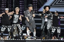 South Korean pop group Block B perform on stage during the 20th Dream Concert on June 7, 2014 in Seoul, South Korea.