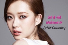 Welcome note from Artist Company for Go-Ara, which she posted to her Instagram.