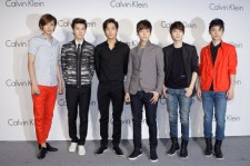 EXO attend the Calvin Klein Collection Hosts a special one-night exhibition entitled 'Infinite Loop' organized by the New Museum of Contemporary Art at the Seoul Railway Station on May 24, 2012 in Seoul, South Korea.
