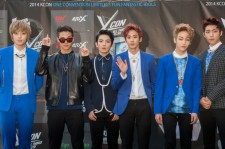 Teen Top attend KCON 2014 - Day 1 at the Los Angeles Memorial Sports Arena on August 9, 2014 in Los Angeles, California.