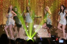 SISTAR perform on stage during Youtube Music Awards 2013 at Kintex Hall on November 3, 2013 in Seoul, South Korea.