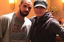 Yang Hyun Suk with Drake