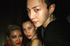 G-Dragon, Bella Hadid, and Yoon Ambush at