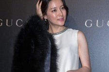 Lee Young-Ae arrives 'Gucci Celebrates Flora Knight Collection in Hong Kong with special guests James Franco and Artist Kris Knight' event at California Tower in Central district on November 20, 2014 in Hong Kong.