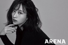 Hani poses in a black and white concept for Arena Homme.