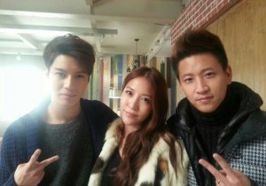 BoA-Taemin Reveal Picture from MV Making, 'Can't Hide Good Genes'