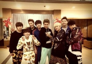Super Junior Pose for Picture, 'Neighborhood Gangsters'