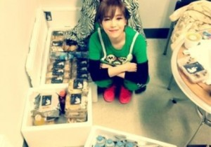 Gain Reveals Childlike Smile Next To Her Bundles of Presents