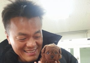 park jin young puppy