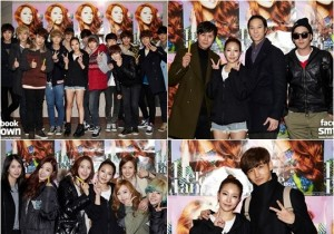 SM Entertainment Artists Attends BoA Concert, 'Happy Family'