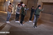 GOT7 released MV making film, putting on serious faces.
