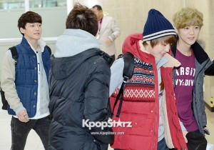 Airport Fashion: EXO-M at Kimpo Airport on Jan 27, 2013