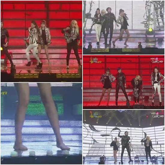 2NE1 Bom is a True Professional? 'Performs Barefoot after Shoe Slips Off'