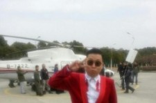 Only 'Gangnam Style' Psy would Wear Red Suit before Helicopter Ride
