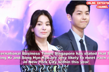 Song Jong Ki and Song Hye Kyo are reported to get married in New York City.