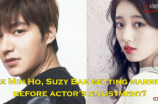 Lee Min Ho was reported to have his wedding with Suzy before his army enlistment in May.