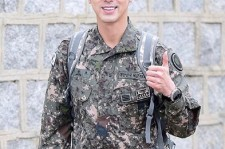 TVXQ's Yunho after he was discharged.